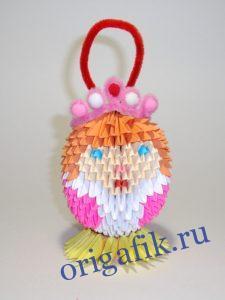 оригами Снегурочка _2