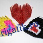 Модульное оригами Сердце — схема сборки, видео