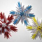 Модульное оригами Снежинка — схема и видео сборки