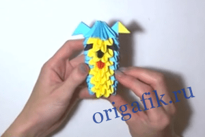 оригами собачка 20