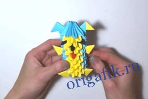 оригами собачка 21