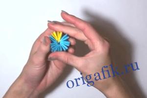 Модульное оригами собачка