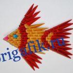Рыбка оригами из бумажных модулей — схема, видео