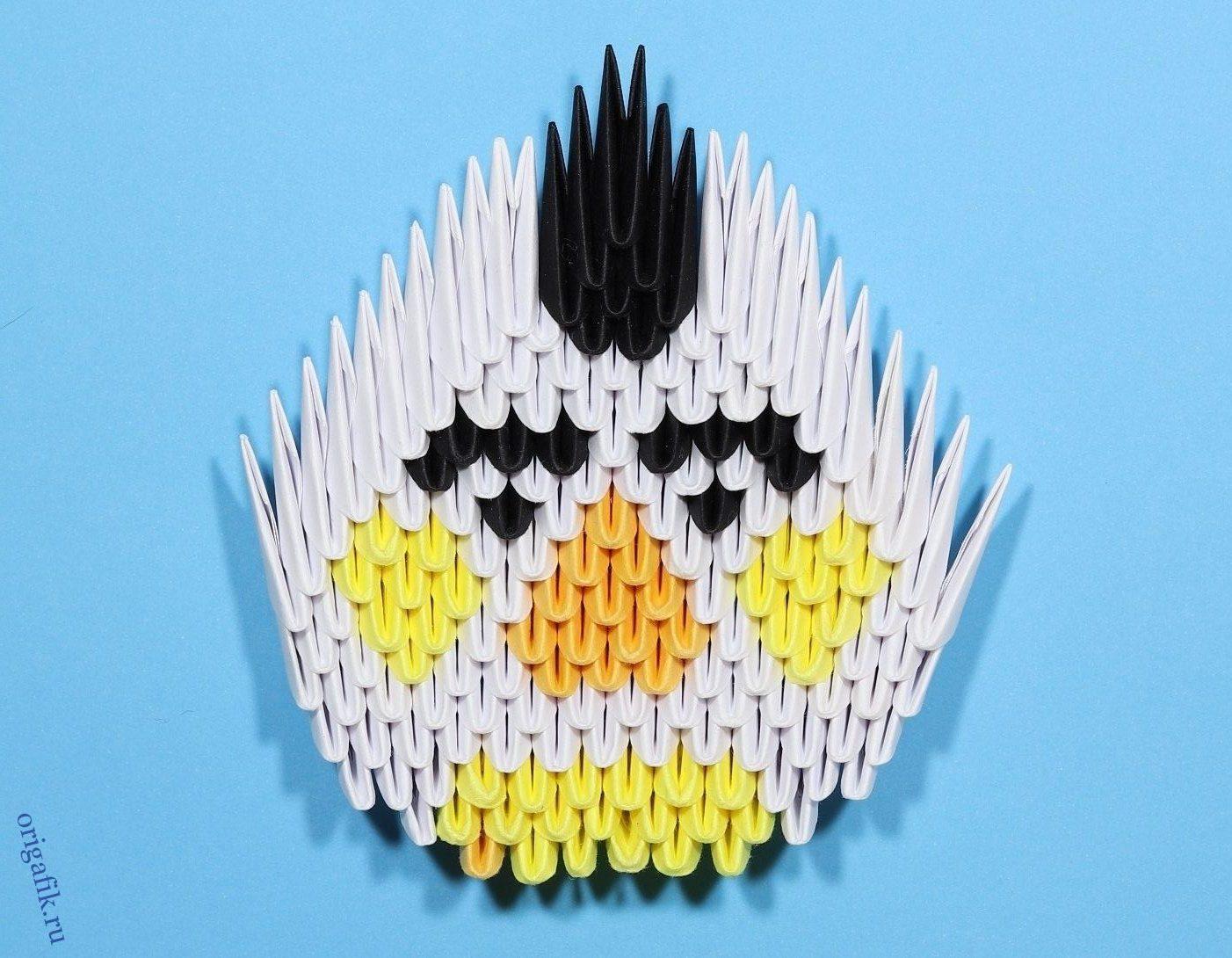 Персонаж игры Angry birds оригами