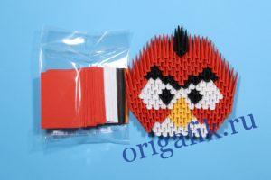 Готовый набор красной птички