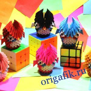 Модульное оригами Сова