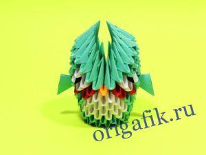 Модульное оригами Сова: схема сборки и видео