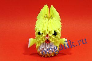 Как сделать зайчика оригами: схема и видео сборки