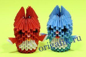 как сделать зайчика оригами