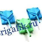 Танк из бумаги оригами: самая простая схема