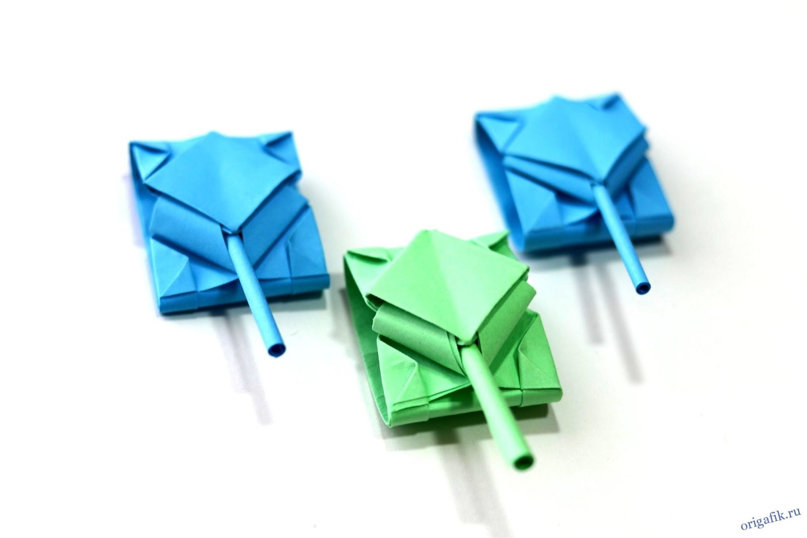 танк из бумаги оригами