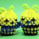 Оригами пчелка из бумаги: схема, видео