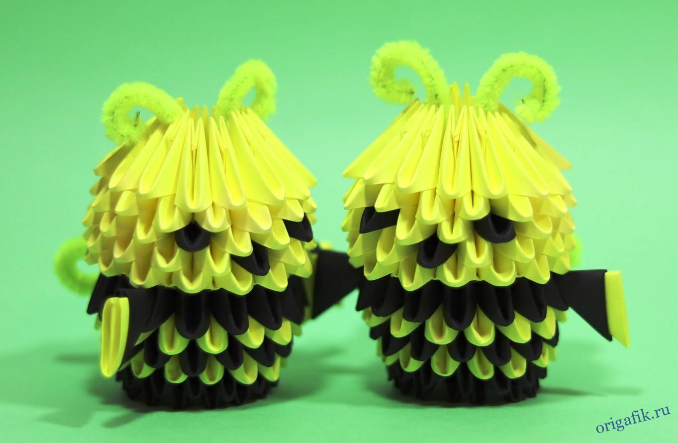 оригами пчелка