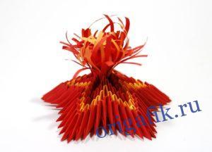 Поделка Вечный огонь оригами: пошаговая инструкция (2 варианта)