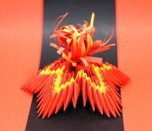 вечный огонь модульное оригами
