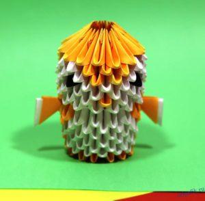 Птичка из бумаги модульное оригами: схема, видео