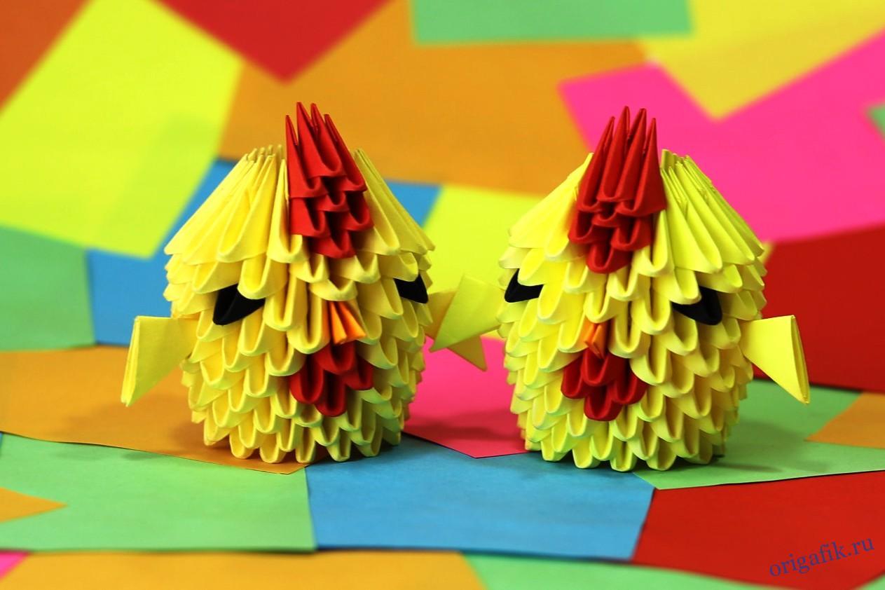 поделка цыпленок из бумаги