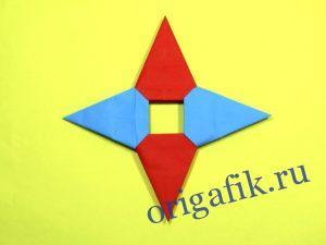 Сюрикен оригами из бумаги: описание и видео (3 варианта) Часть 2